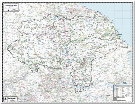North Yorkshire County Wall Map